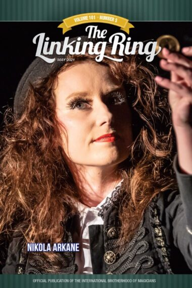 Nikola Arkane is the cover story in the Linking Ring magazine